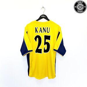1999/01 KANU #25 Arsenal Vintage Nike UEFA Cup Away Football Shirt (XL) SEGA