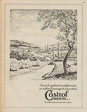 Y9342 Lubrificante CASTROL - Illustrazione - Pubblicità d'epoca - 1937 Old ad