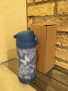 NEW POTTERY BARN KIDS INDIGO BUTTERFLY INSULATED WATER BOTTLE