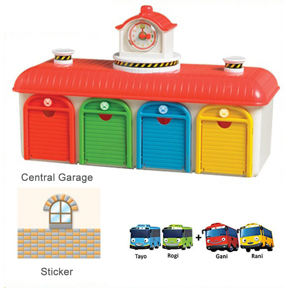Tayo The Little Bus Talking Bus Depot Center Playset with Tayo  Rogi  Gani