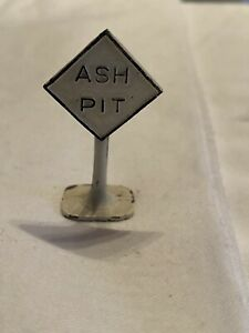Metal-Slow-And-Ash-Pit-Vintage-Signs-For-Model-Train-Help-A-Widow-Buy