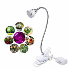 5W Hydroponic Plant Desk Flexible Clip On Lamp LED Grow Light For Indoor Garden