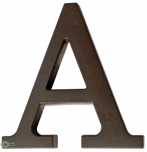 """Hausnummer  /""""A/"""" aus Kunststoff Dunkel Braun Höhe 90 mm"""