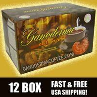 Ganoderma 2 In 1 Black Coffee - 12 Box(240 Ct) - Free Shipping