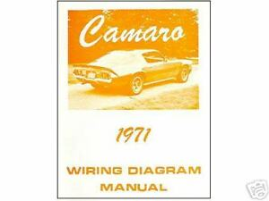 1971 chevrolet camaro ss z28 wiring diagram manual ebay. Black Bedroom Furniture Sets. Home Design Ideas