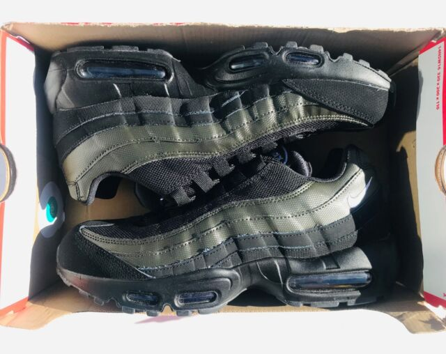 reputable site 1632a 976c4 Nike Air Max 95 Essential Black White Sequoia Running Shoes 749766-034  Men s 8.5