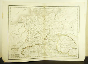 La-Germany-Deurschland-Card-Antique-1838-Ancient-Map-17-11-16in-15in