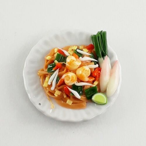 Thai Food Model Pad Thai Noodle Miniature Dollhouse Collectible Handmade Tiny