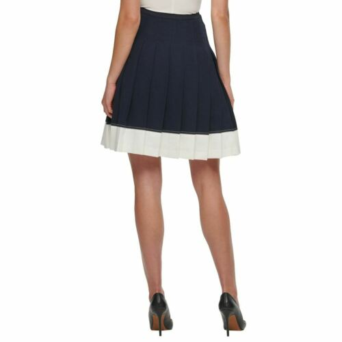 TOMMY HILFIGER NEW Women/'s Colorblocked Pleated A-Line Skirt TEDO