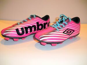 905edc9a375d8 Umbro Arturo 2.0 Youth Girls Soccer Cleats Size 10K Pink Teal Laces ...