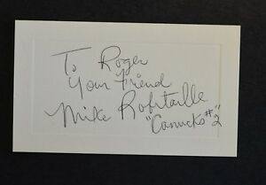 Mike Robitaille Canucks #2 1975 signed auto autograph on note index card vintage