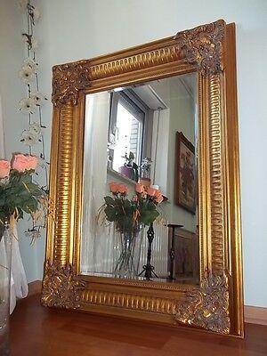Antiker Spiegel Wandspiegel Barock Pömpos Gold Holzrahmen 123x93cm Herausragende Eigenschaften
