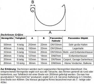 Einlauf Dachrinne Set Titanzink Komplettpaket Komplettset Fallrohr