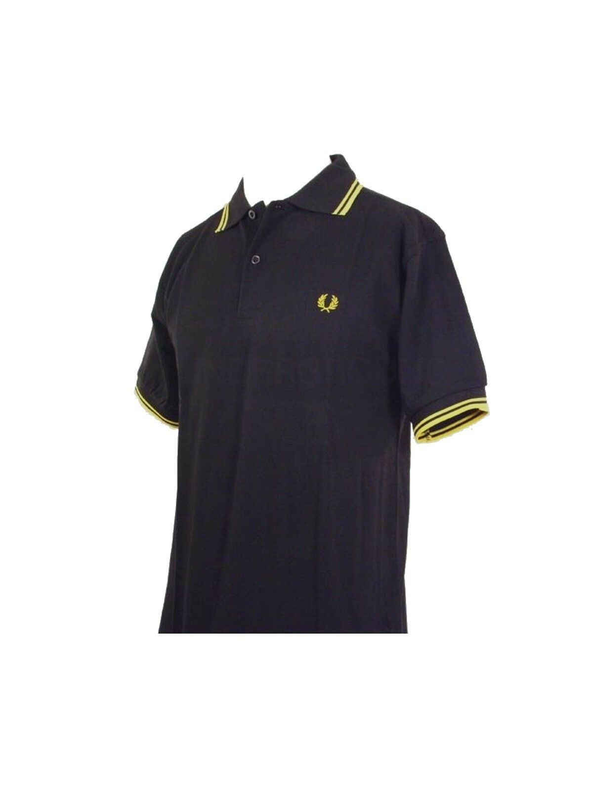 FROT Perry Polo Shirt M1200 506 Schwarz / Gelb  5411