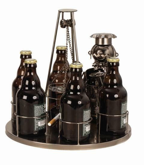 Pivotant Grillage bière Range-bouteilles occupation en métal, cadeau