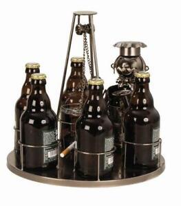 Schwenker-Grillen-Bier-Flaschenhalter-Beruf-aus-Metall-Geschenk-Geburtstag