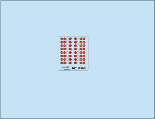 HO//1:87 DIS 0346 Rücklichter 16 Paar für Zugmaschinen und Auflieger