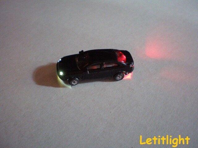 10 pièces voiture miniature éclairé DEL Voiture Voitures à Piste N NEUF