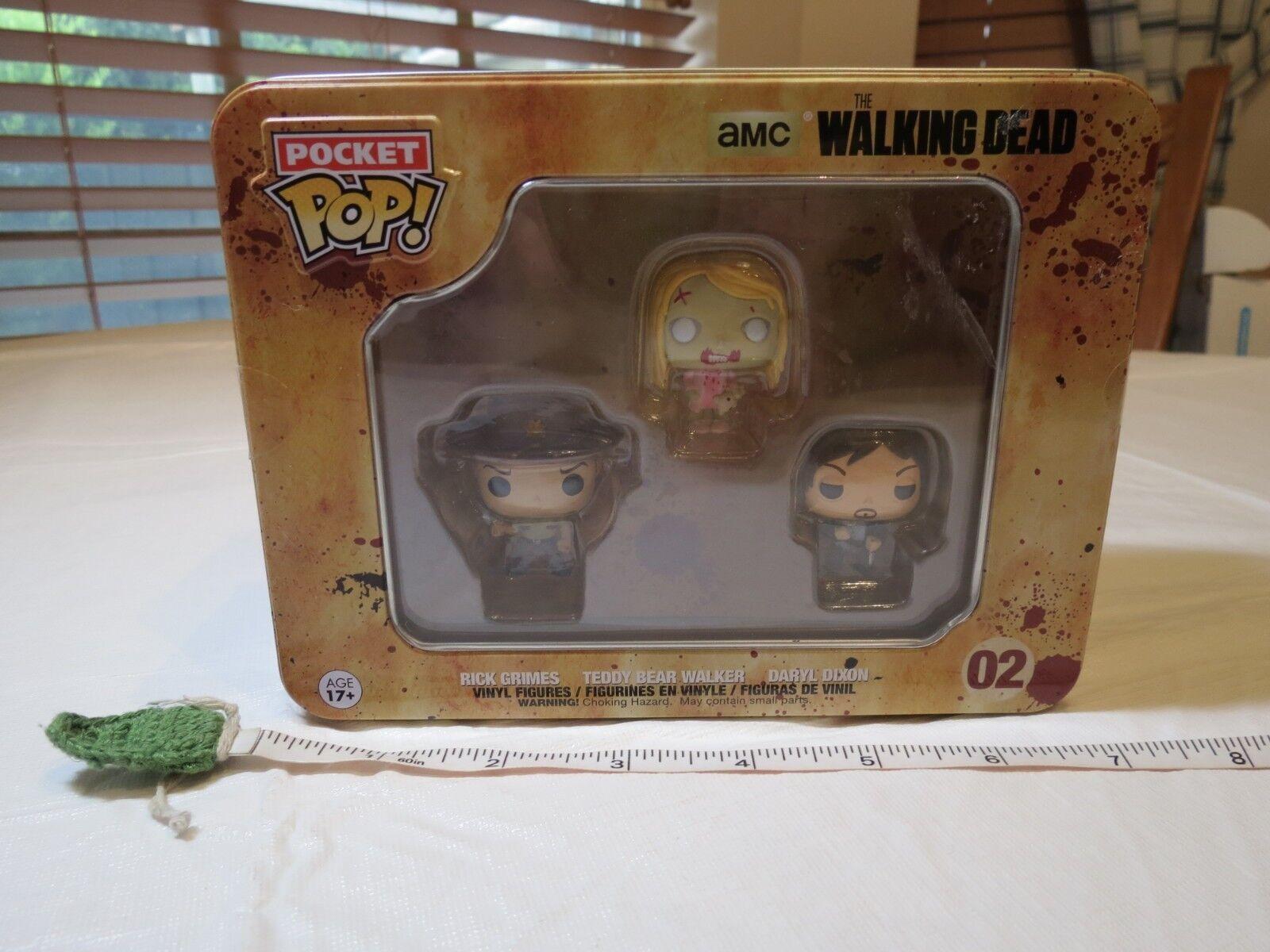 Funko The Walking Dead Pocket Pop Mini Vinyl Figure Tin 3-pack | eBay
