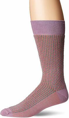 J.M Dickens Mens Pima Cotton Small Paisley Purple Fashion Dress Socks 10-13