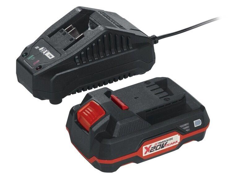 Batterie 20 V + Ladegerät Parkside für die 9 Geräte der X Serie 20 V Team