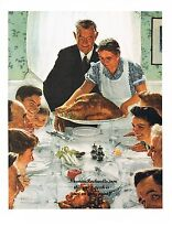 """Norman Rockwell print """"FREEDOM FROM WANT"""" Thanksgiving Christmas dinner"""