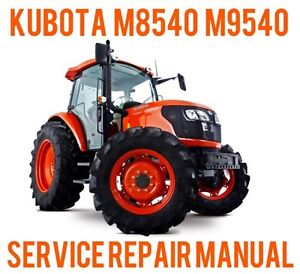 best digital kubota m8540 narrow tractor service repair workshop rh ebay com kubota m8540 parts manual kubota m8540 service manual