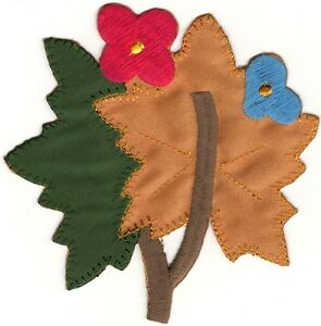 Automne Fall Fleur Feuilles Broderie Patch