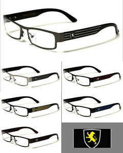 Men s European Eyeglass Frames : Mens Clear Lens Designer Glasses 0 Rx Non Prescription ...