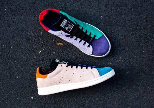 Adidas Originali Stan Smith Recon Bianco Uomo Rosa Blu Scarpe Sneaker All Taglie