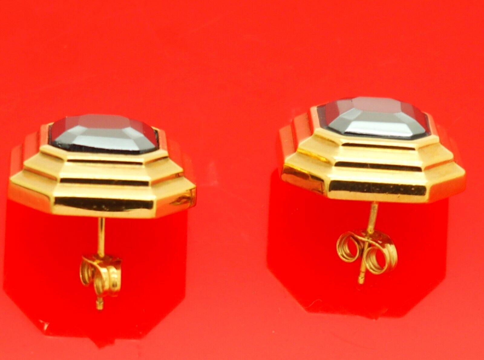 Vintage Lanvin Germany Octagonal Gold Plate w/ He… - image 4