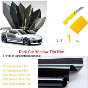6m x 50cm-Noir 40/% Teinte film film teinter pour voiture fenêtre