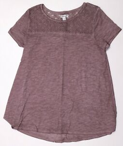 New-Women-039-s-Mauve-NWOT-Liz-Lange-Maternity-Short-Sleeve-Top-Tunic-Shirt-Size-XS