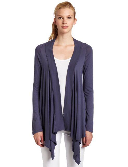 Splendid Women's Very Light Jersey Wrap Cardigan #STMJ2570, Blue Steel, Small