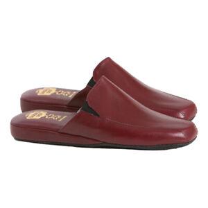 Pantofole Uomo chiuse VERA PELLE da camera eleganti con suola in gomma soft