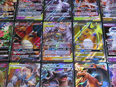 Pokemon Gx Card Lot 100 Official Tcg Cards Gx Ultra Rare Included Holos Ebay