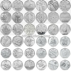 Rare-amp-Valuable-UK-50p-Pence-Coins-Circulated-Beatrix-Potter-Olympics-WWF