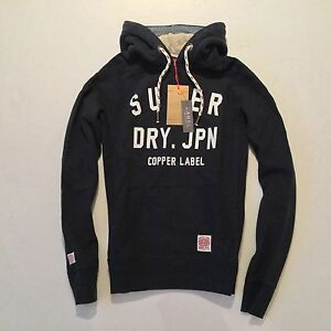 Felpa uomo da Piston Label Copper Felpa £ Superdry cappuccio 70 con con cappuccio Rrp HSqcxUg