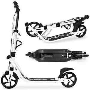 OPEN-BOX-EXOOTER-M2050WB-Adult-Kick-Scooter-w-Dual-Suspension-Shocks-In-White
