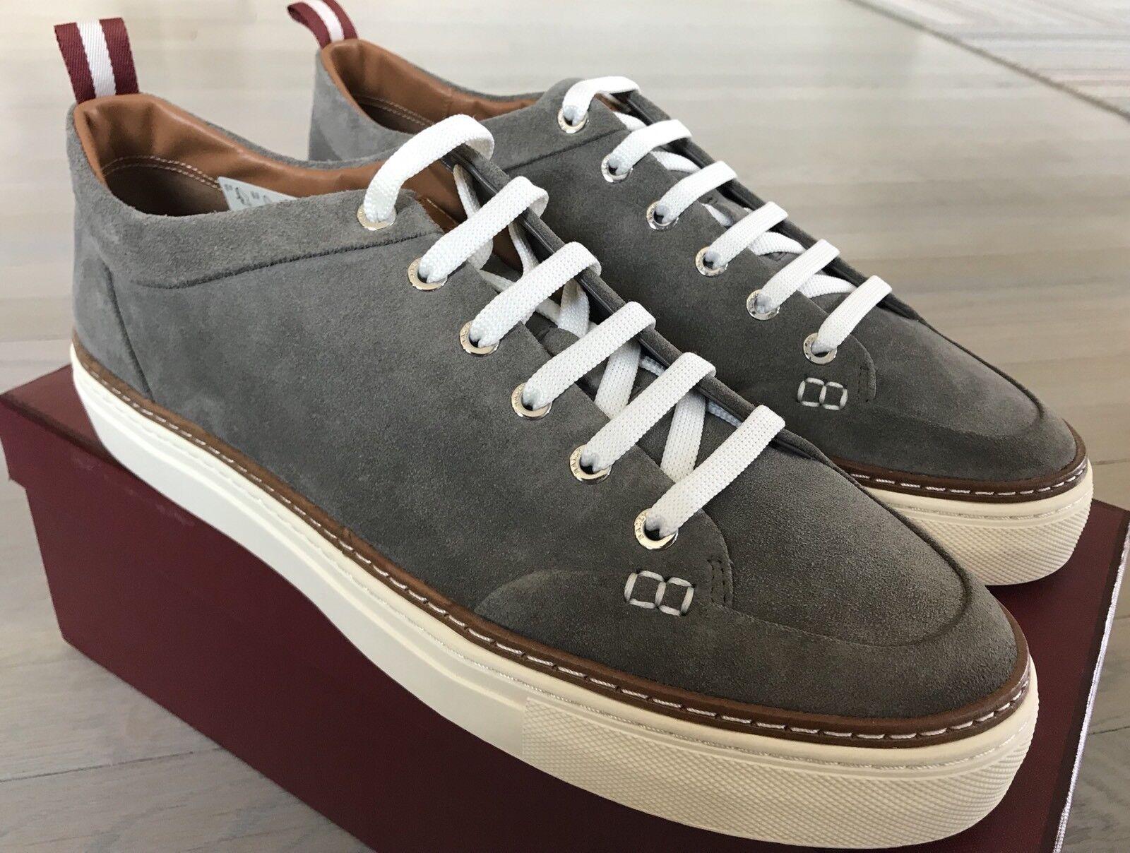 550$ Bally Hernando Gray Suede  Sneakers size US 11