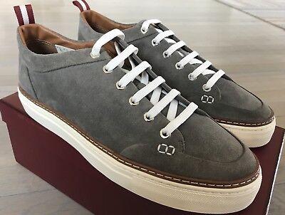 Bally Hernando Gray Suede Sneakers size