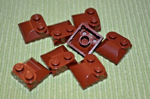 8 BROWN 2x2 Specialty Cover Duck Bill Bricks ~  Lego  ~ NEW ~