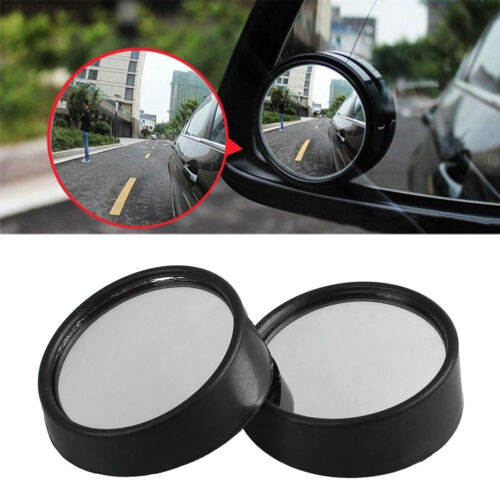 2Pcs Auto Car Vehicle Wide Angle Small Round Convex Blind Spot Rearview Mirror