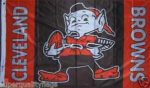 Cleveland-Browns-Flag-New-3x5ft-Brownie-1950-039-S-style-banner-genuine-NFL-Lic