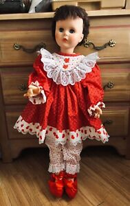 """Valentine Dress /& Bloomers for Bitty Baby 15/"""" Doll Clothes Handmade Snap Closure"""