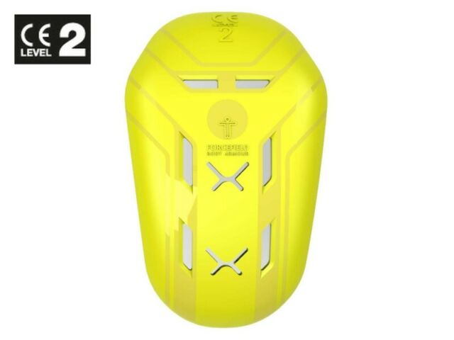 Level 2 Motorcycle Forcefield Isolator PU Hip Armour 23 x 11.5cm Yellow