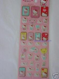 NEW-Sanrio-Bear-Hello-Kitty-Stickers-3D-Effect-33-PCS-Q