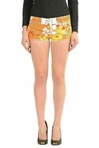 Dsquared2-Multi-Color-Floral-Women-039-s-Casual-Shorts-US-XS-IT-38