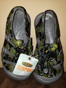 ee575fff6011 KEEN Toddler Camo Sandals Rubber Sunport Shoed Sz US 1 New With Tags ...