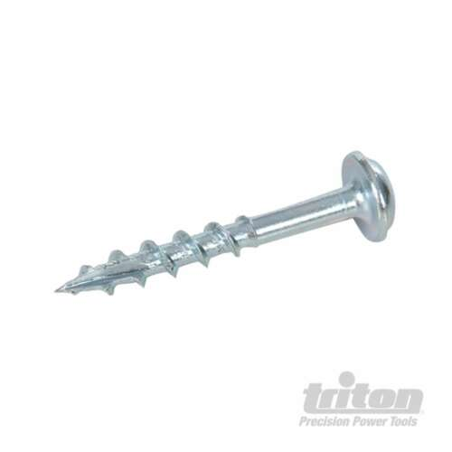 "Pack Of 100 Triton Zinc Pocket-Hole Screws Washer Head Coarse 8 x 1-1//4/"" 1"